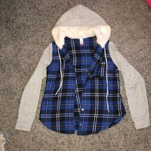 Flannel sweatshirt